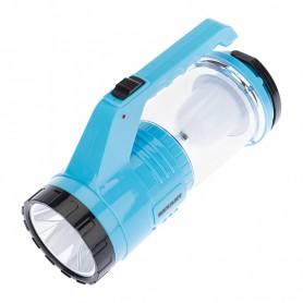 Фонарь туристический/поисковый/кемпинговый с Powerbank, аккумулятор, головной + боковой свет, солнечная батарея. Индикатор зарядки (выносное зарядное устройство от сети в комплекте)