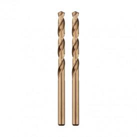 Сверло по металлу  2,5 мм «Кобальт» (сталь HSS-Co 5% M35 P6M5K5) (2 шт. в блистере) DIN 338 REXANT