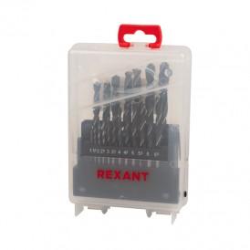 Набор сверл по металлу 1-10 мм (через 0,5 мм), 19 шт., HSS 4241 REXANT