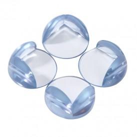 Прозрачные круглые накладки-протекторы для мебели (4.2*4.2*1.5 см). 4 шт.