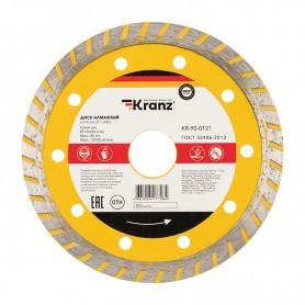 Диск алмазный отрезной Turbo 125x22.2 мм Kranz