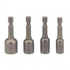Набор ключей-насадок магнитных 6/8/10/13х48 мм с шестигранной головкой Kranz