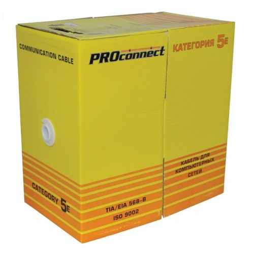 Витая пара, UTP-кабель UTP 4PR 24AWG, CCA, CAT5e, наружный (OUTDOOR), PROconnect