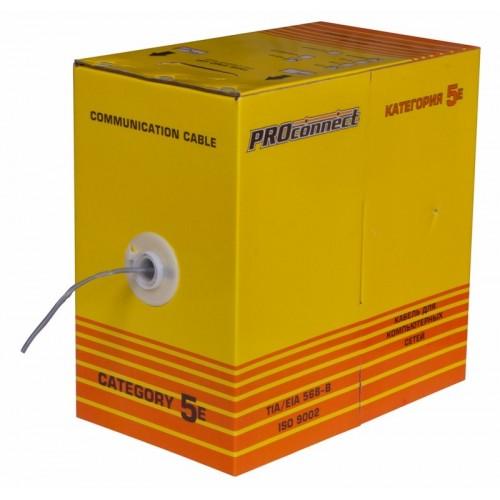 Витая пара, UTP-кабель 4PR 24AWG, CAT5e PROconnect 01-0052