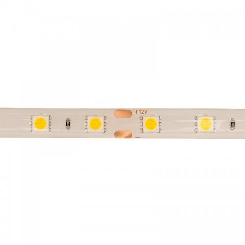 LED лента силикон, 10 мм, IP65, SMD 5050, 60 LED/m, 12 V, цвет свечения теплый белый