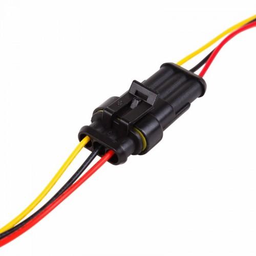DJ7031-1.5-11 автомобильный разъем штекер с проводом 20 см (3-контактный)