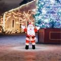 Акриловая светодиодная фигура «Приветствующий Санта Клаус» 76х47х120 см, IP65, понижающий трансформатор в комплекте NEON-NIGHT