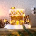 Акриловая светодиодная фигура «Пряничный домик» 26х15,5х20 см, 30 светодиодов, батарейки 3хАА (не входят в комплект) NEON-NIGHT
