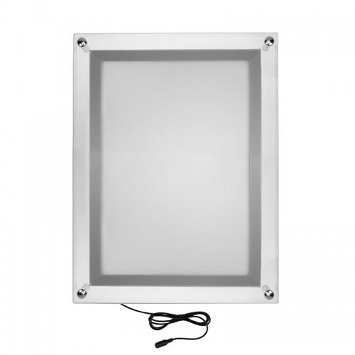 Бескаркасная подвесная односторонняя световая панель Постер Crystalline Round LED ø 600, 15 Вт REXANT