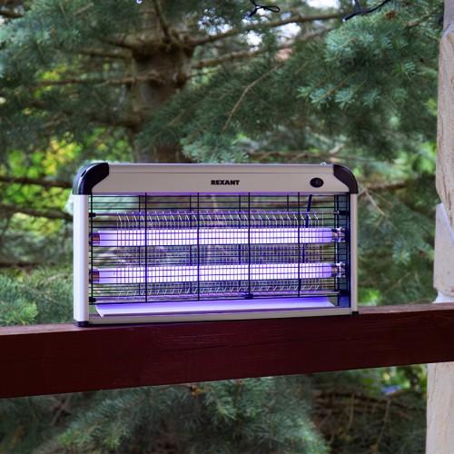 Антимоскитная лампа 2х15Вт, 220В (R100)  REXANT
