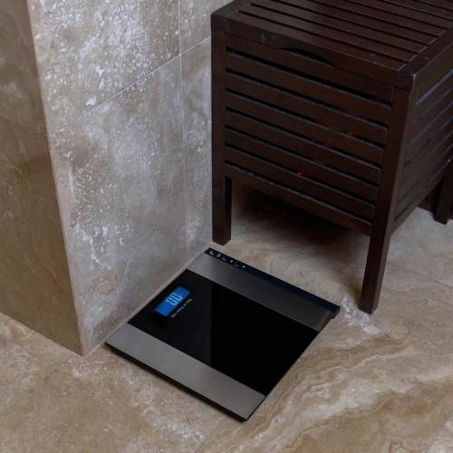 Весы напольные электронные до 180 кг с диагностикой, черные SMART Life REXANT