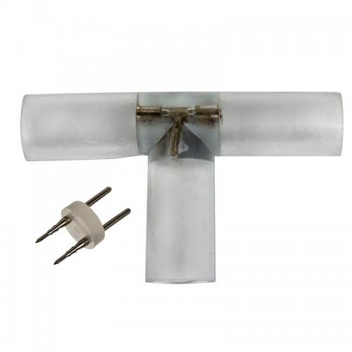 T - коннектор для двухжильного дюралайта ∅13мм (цена за 1 шт.)