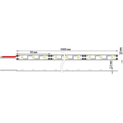 LED лента силикон, 8 мм, IP65, SMD 2835, 60 LED/m, 12 V, цвет свечения синий