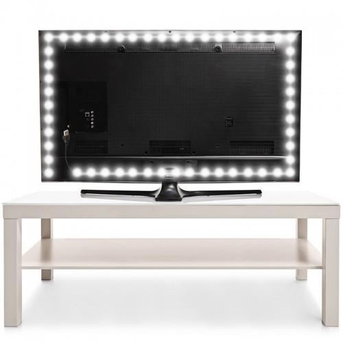 LED лента с USB коннектором 5 В, 8 мм, IP65, SMD 2835, 60 LED/m, цвет свечения белый (6500 K)