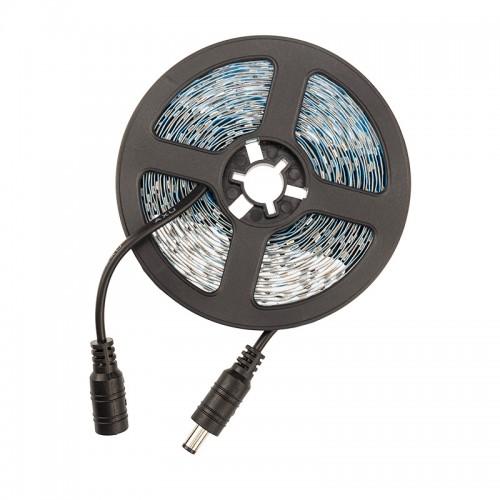 LED лента 12 В, 6 мм, S-образная плата, IP65 (напыление силикона), SMD 2835, 60 LED/m, цвет свечения белый (6000 К)