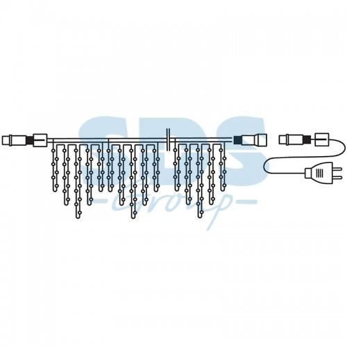 Гирлянда Айсикл (бахрома) светодиодный, 4,8 х 0,6 м, прозрачный провод, 230 В, диоды белые, 176 LED  255-145  NEON-NIGHT