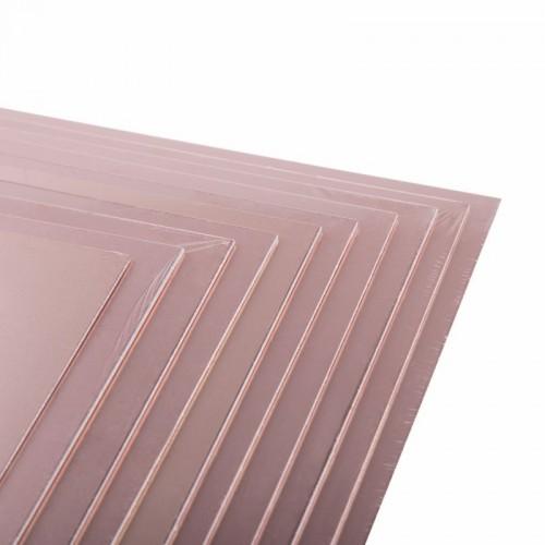 Стеклотекстолит 2-сторонний 350x450x1. 5 мм 35/35 (35 мкм) REXANT