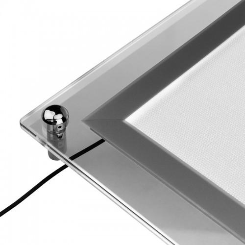 Бескаркасная подвесная двухсторонняя световая панель Постер Crystalline Round LED 501х741, 17 Вт REXANT