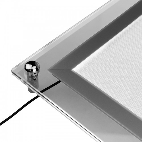 Бескаркасная подвесная двухсторонняя световая панель Постер Crystalline Round LED ø 800, 21 Вт REXANT