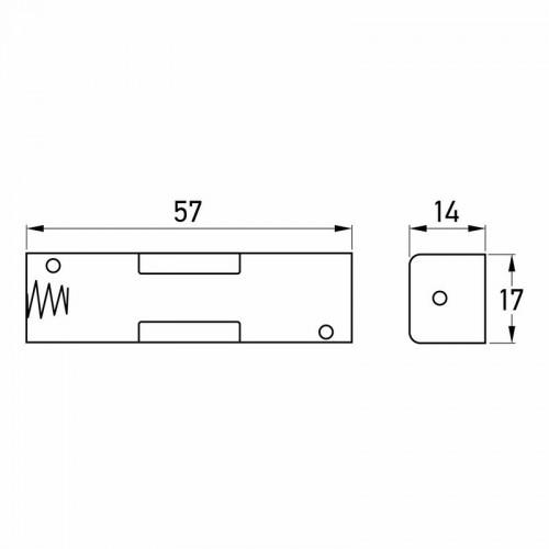 Батарейный отсек 1xAA (на плату)