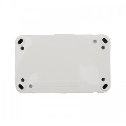 Блок из 2 розеток горизонтальный KRANZ Mini OG открытой установки с заземлением, IP54 белый