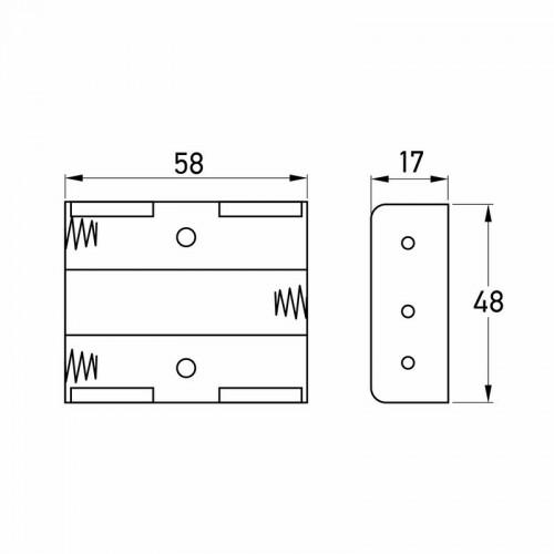 Батарейный отсек 3хАА (с проводами)