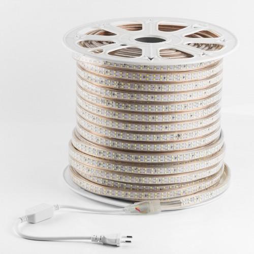 LED лента 220 В, 6.5x17 мм, IP67, SMD 2835, 180 LED/m, цвет свечения белый, 100 м