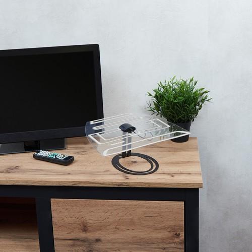 Антенна комнатная «Активная» для цифрового телевидения DVB-T2, Ag-701 REXANT
