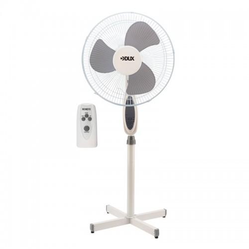 Вентилятор напольный DUX DX-18 с пультом и таймером, 40 Вт, 220V, белый/серый