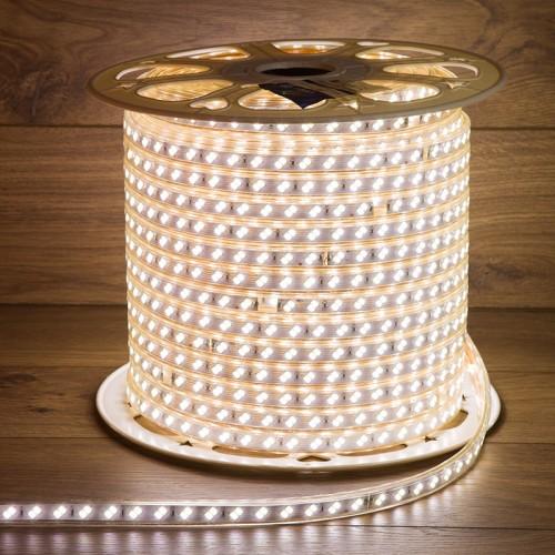 LED лента 220 В, 6.5x17 мм, IP67, SMD 5730, 120 LED/m, цвет свечения белый, 100 м