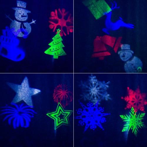 LED проектор, 12 сменных слайдов, цвет RGBW, 12В