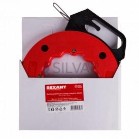 Протяжка кабельная стальная плоская REXANT, в кассете 15 м
