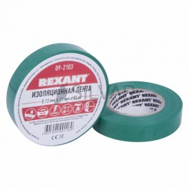 Изолента 15ммх25м Rexant 09-2103 зеленая