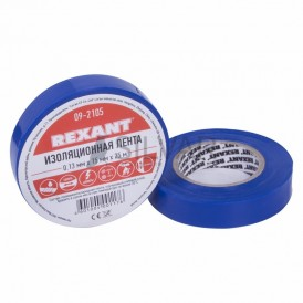 Изолента 15ммх25м Rexant 09-2105 синяя