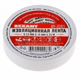 Изолента 19мм х 25м Rexant 09-2201 белая