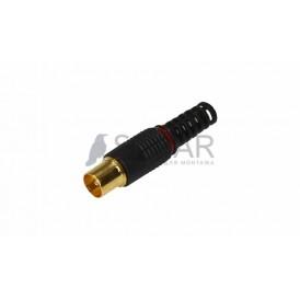 Разъем штекер TV без пайки Rexant 05-2042-1 черный  GOLD