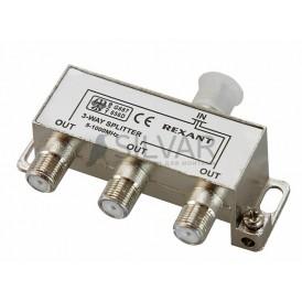 ДЕЛИТЕЛЬ  ТВ х 3 под F разъём 5-1000 МГц | 05-6002 | REXANT