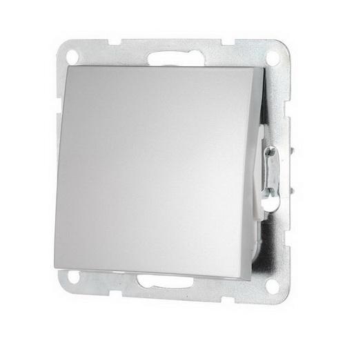 Выключатель 1-кл. Экопласт LK60 серебристый металлик