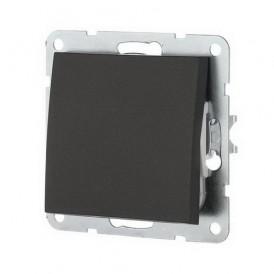 Выключатель 1-кл. Экопласт LK60 черный бархат