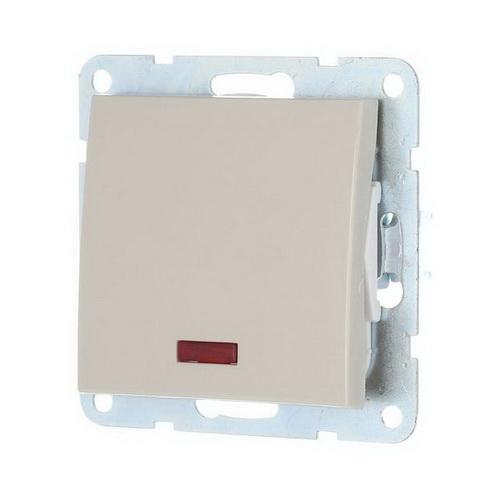 Выключатель 1-кл. c индикатором Экопласт LK60 бежевый