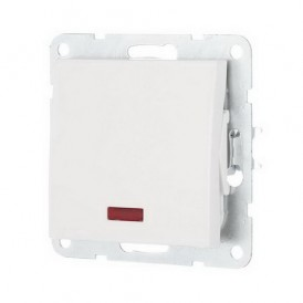 Выключатель 1-кл. c индикатором Экопласт LK60 белый