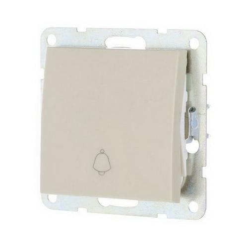 Выключатель-кнопка 1-кл. Экопласт LK60 бежевый