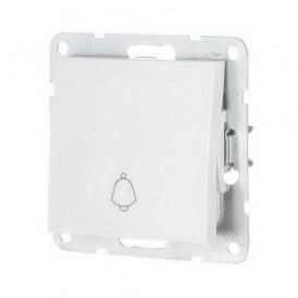 Выключатель-кнопка 1-кл. Экопласт LK60 белый