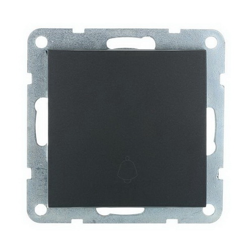 Выключатель-кнопка 1-кл. Экопласт LK60 черный бархат