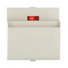 Накладка для выключателя гостиничного для включения с помощью карточки Экопласт LK60 бежевая