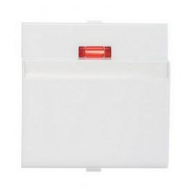 Накладка для выключателя гостиничного для включения с помощью карточки  Экопласт LK60 белая