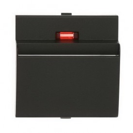 Накладка для выключателя гостиничного для включения с помощью карточки Экопласт LK60 черный бархат