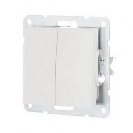 Выключатель 2-кл. Экопласт LK60 белый