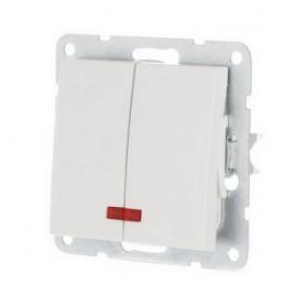 Выключатель 2-кл. c индикатором Экопласт LK60 белый