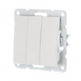 Выключатель 3-кл. Экопласт LK60 белый